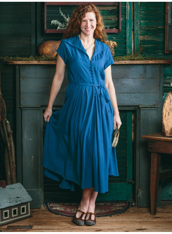 Cecelia Dress in Teal by April Cornell