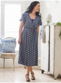 Market Dress in Navy | April Cornell
