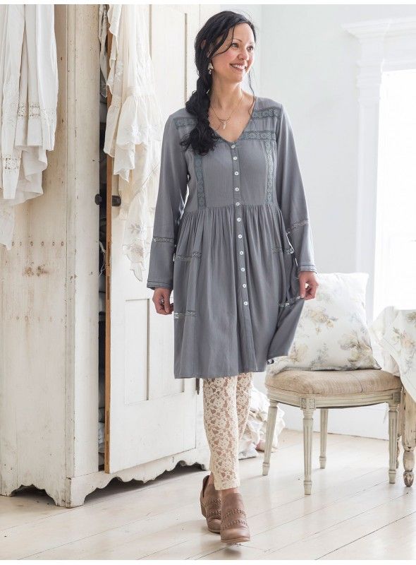 Minuet Tunic in Smoky Quartz by April Cornell