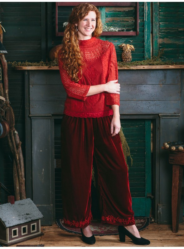Duchess Pant in Scarlet Red by April Cornell