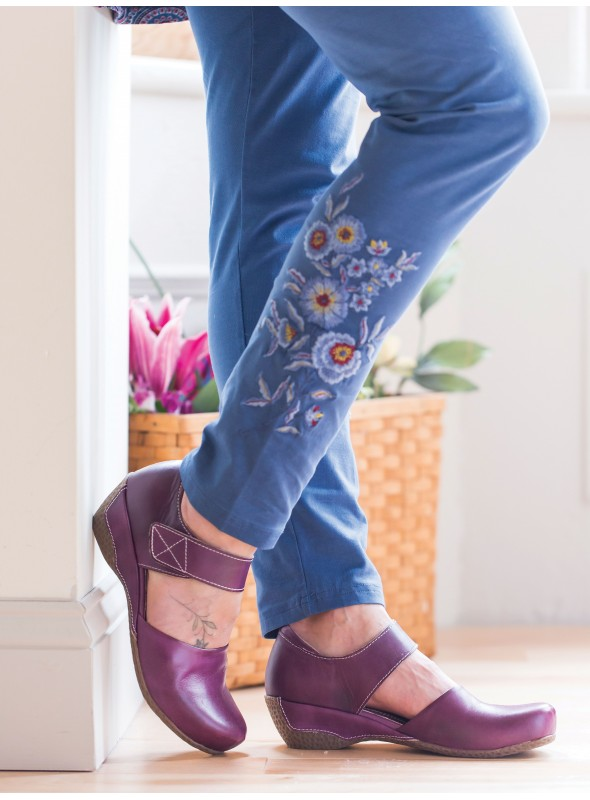 Garden Leggings in Indigo by April Cornell