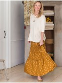 Sasha Skirt in Gold | April Cornell - SOLD OUT