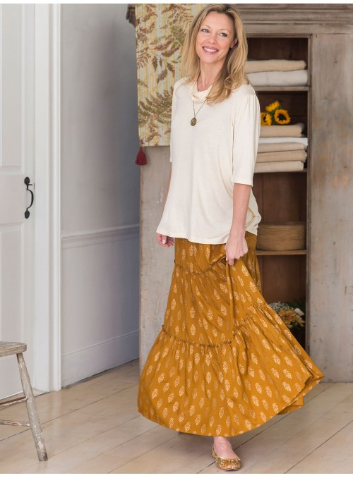Sasha Skirt in Gold by April Cornell