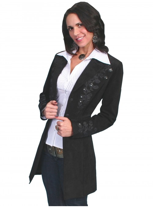 Balanchine Coat in Black by Scully Leather