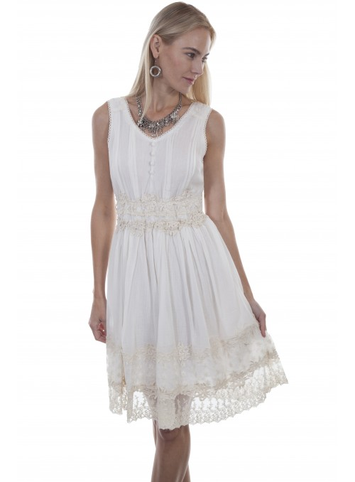 Capri Dress in White by Scully Leather