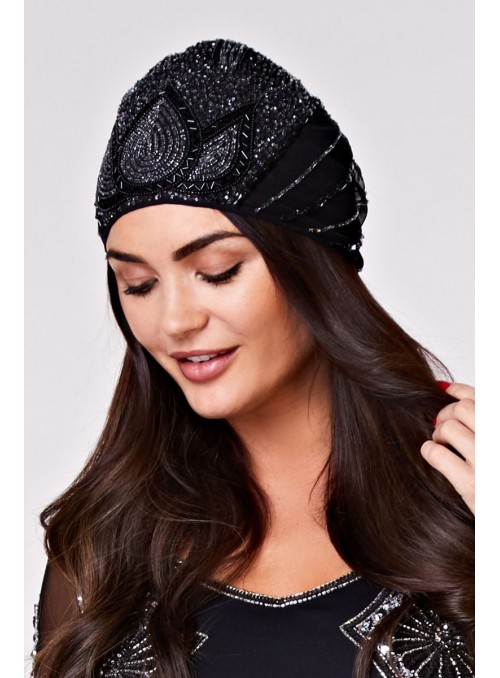 Gatsby Style Cap in Black