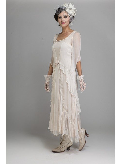 Barrymore Dress in Creme by Tilda Knopf