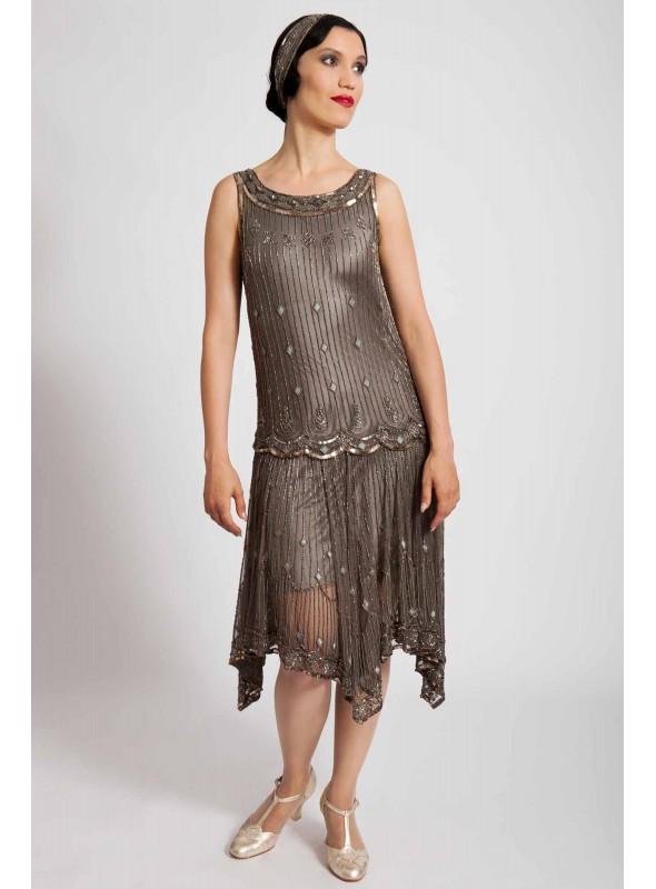 Myrna Dress in Grey by Tilda Knopf