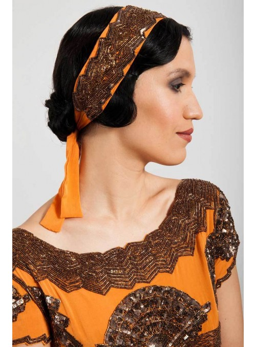 Mabel Headpiece in Orange by Tilda Knopf