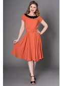 Lindy Dress in Rust - SOLD OUT