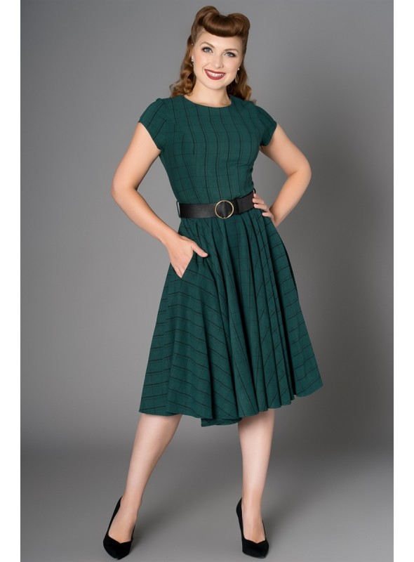 Peggy Dress in Green