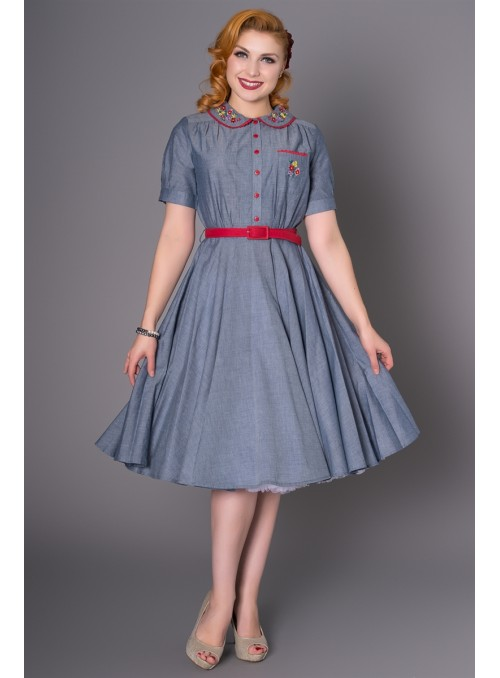 Pollyanna Dress in Blue by Sheen Clothing