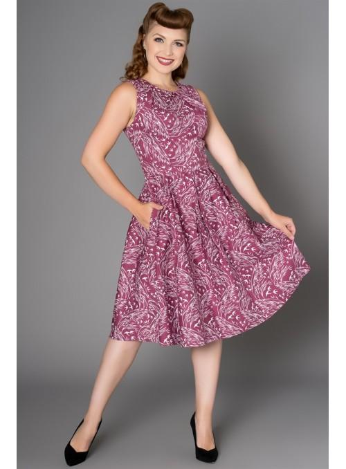 Birdie Dress in Burgundy by Sheen Clothing