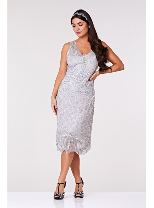 Chandelier Dress in Silver