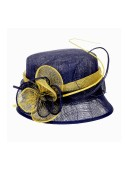 Cloche Flower Sinamay Hat Blue - SOLD OUT