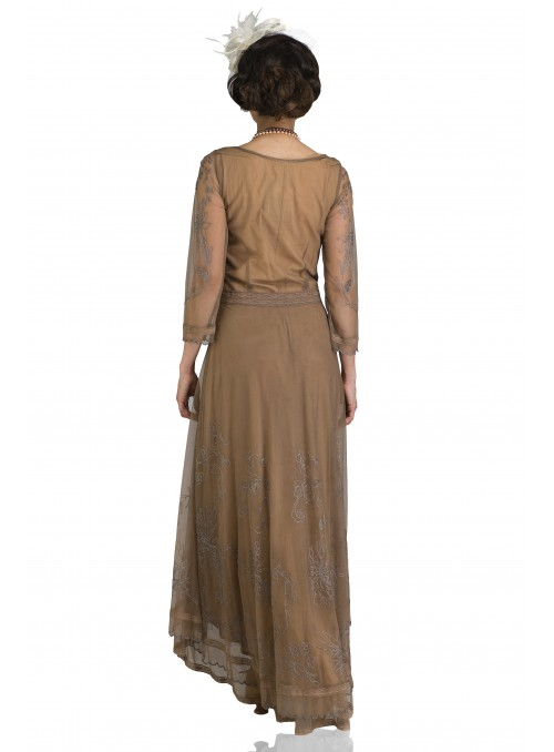 Charly Flapper Style Dress in Mauve by Nataya
