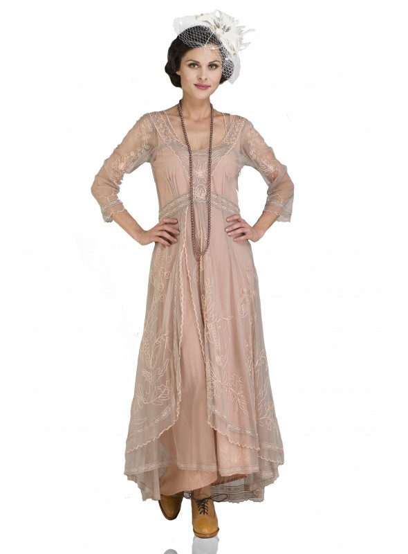 Downton Abbey Tea Party Gown in Quartz by Nataya
