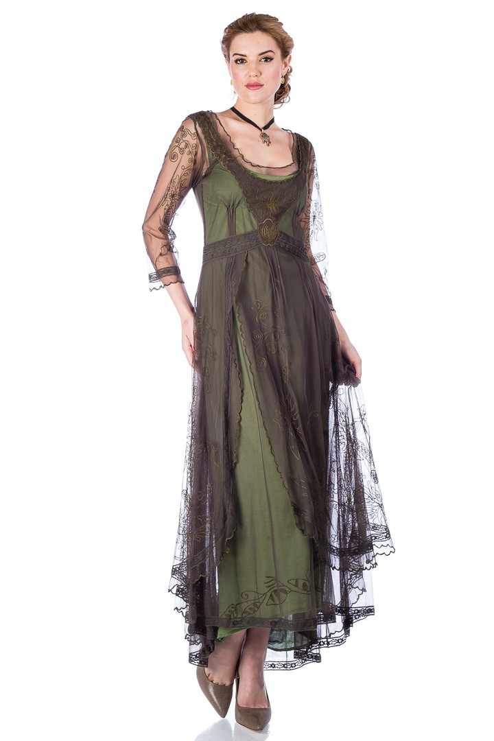 Easy DIY Edwardian Titanic Costumes 1910-1915 Downton Abbey Tea Party Gown in Ruby by Nataya $250.00 AT vintagedancer.com