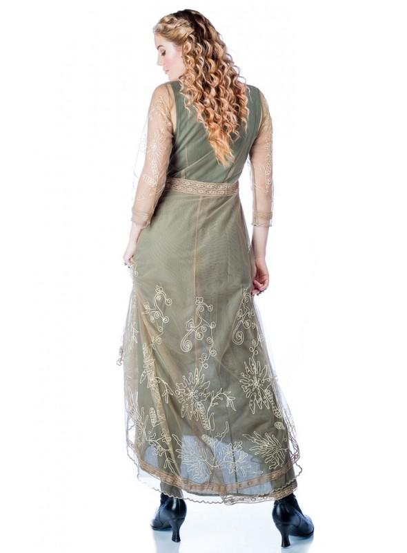 Bettina 1920s Maxi Dress in Navy