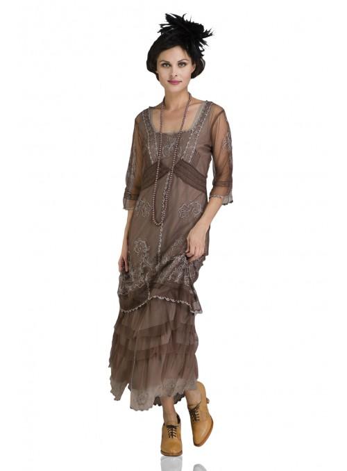 2101 Titanic Tea Party Dress in Ivory by Nataya