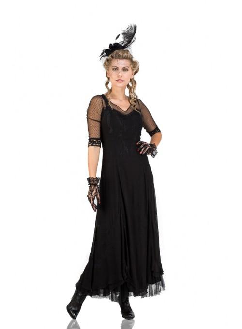 Celine Vintage Style Wedding Gown in Black by Nataya