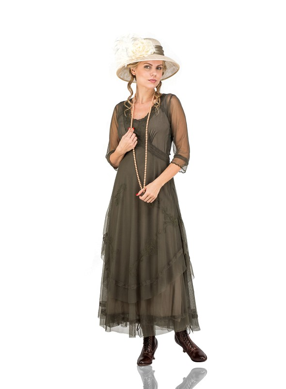 Mary Darling CL-163 Dress in Olive by Nataya