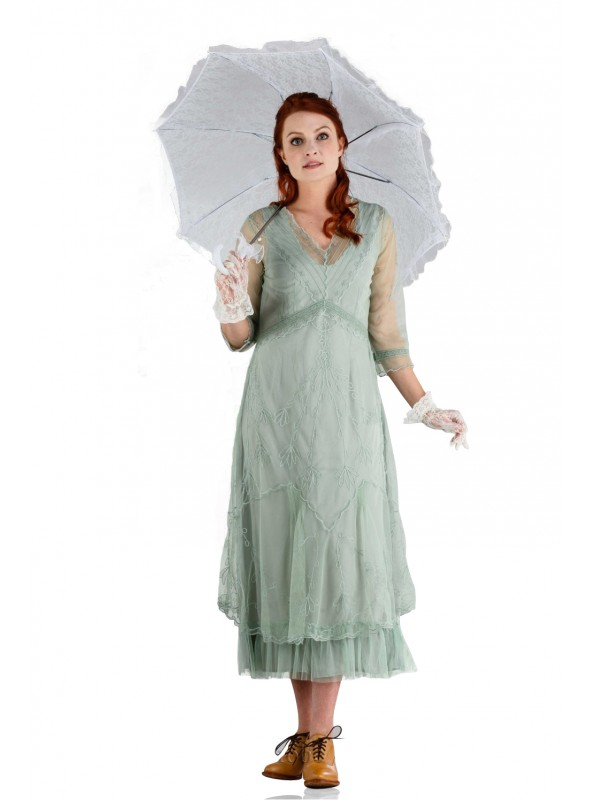 Somewhere in Time Dress in Moss by Nataya