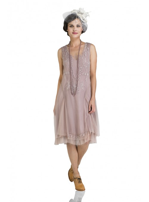 Tara Vintage Style Party Dress in Amethyst by Nataya