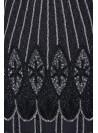 Art Deco Flapper Dress in Black Silver