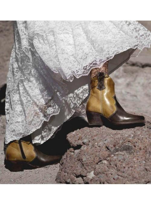 2101 Titanic Tea Party Dress in Ash/Chocolate by Nataya