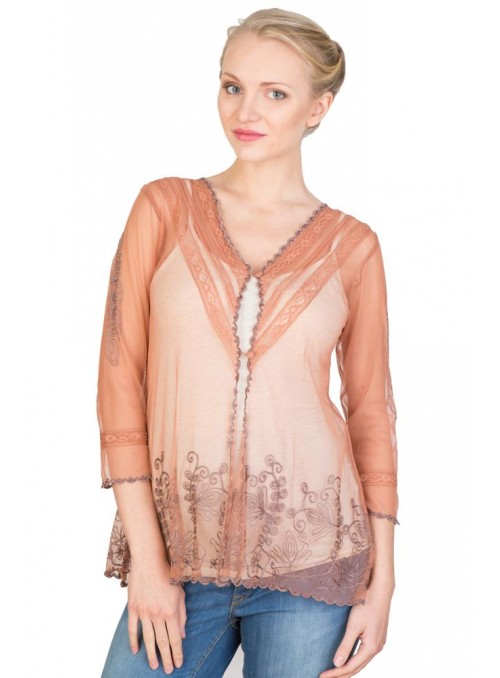 CT-591 Top in Rose/Silver