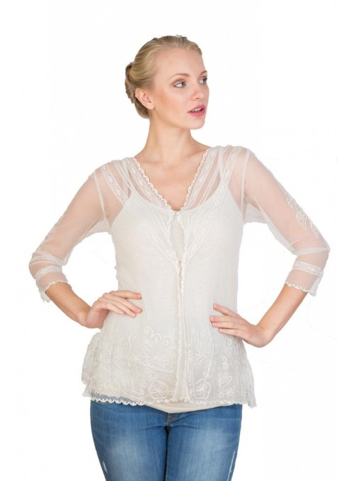CT-591 Top in Ivory