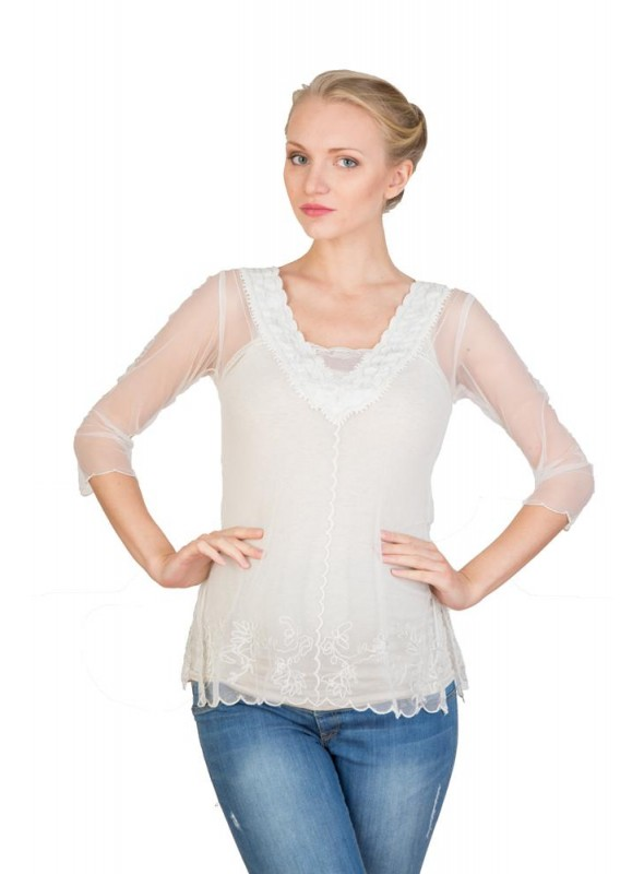 CT-407 Top in Ivory