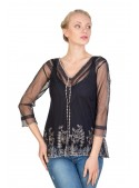 Titanic Vintage Inspired Top in Sapphire by Nataya