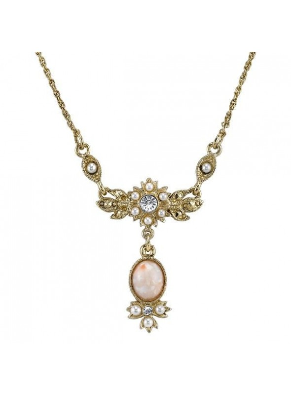 Downton Abbey Pearl and Crystal Necklace