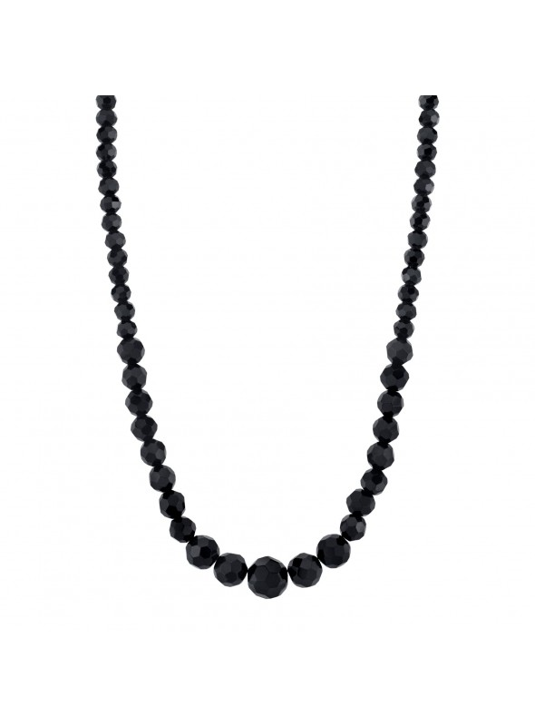 Downton Abbey Black Beaded Necklace