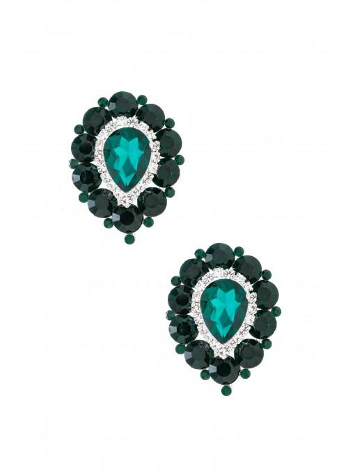 Savoir Vintage Earrings in Green