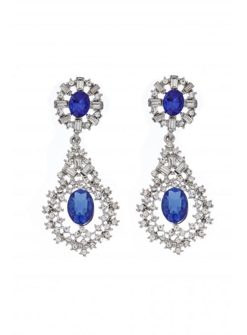 Deco Chandelier Earrings in Blue