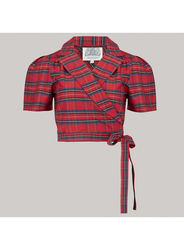 Lucille Blouse in Red Taffeta