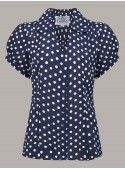 Hedy Blouse in Navy
