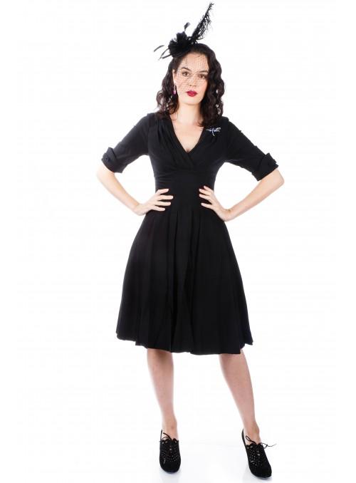 40007 New Vintage Titanic Tea Party Dress in Black/Coco by Nataya