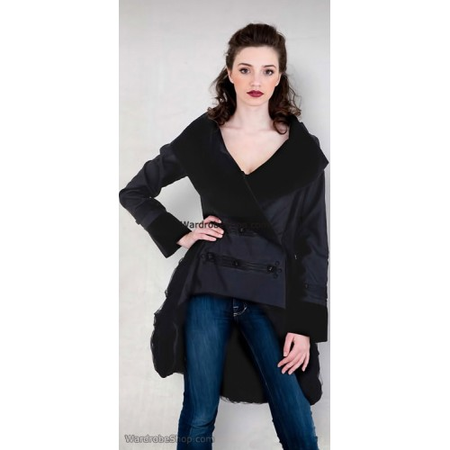 Double Breasted Jacket in Black by Nataya