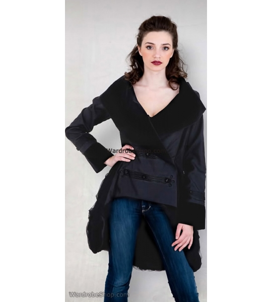 Double Breasted Jacket in Black by Nataya - SOLD OUT