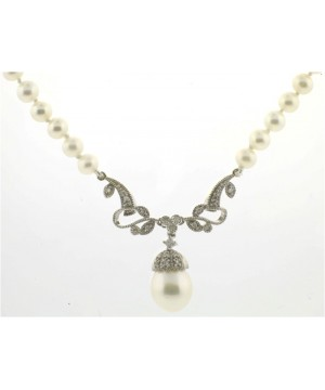 Victorian Bridal Pearl Necklace - SOLD TOU