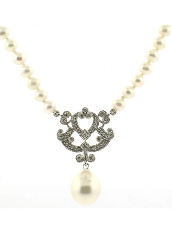 Vintage Style Bridal Pearl Necklace - SOLD OUT