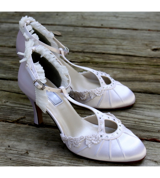 "Flapper style wedding shoes, Model ""Ava"" - SOLD OUT"
