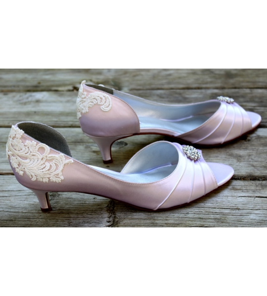 Lace Bridal Shoes in Vintage Style, Cream Color - SOLD OUT