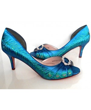 "1920's style inspired peacock bridal shoes, Model ""Rebekah"""