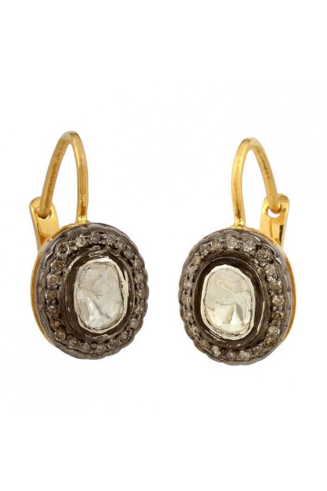 Suratkarat Victorian Rose Cut And Polki Diamond Earrings Wse32001