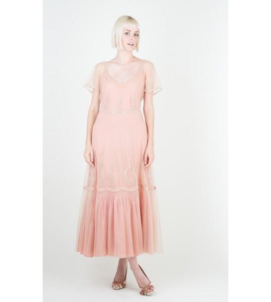 Nataya Summer Sage/Pink Dress - 40192
